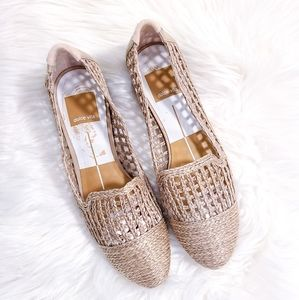 DOLCE VITA Braided Natural Woven Nude Loafers size 9.5